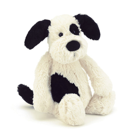 Jellycat Large Black and Cream Bashful Puppy