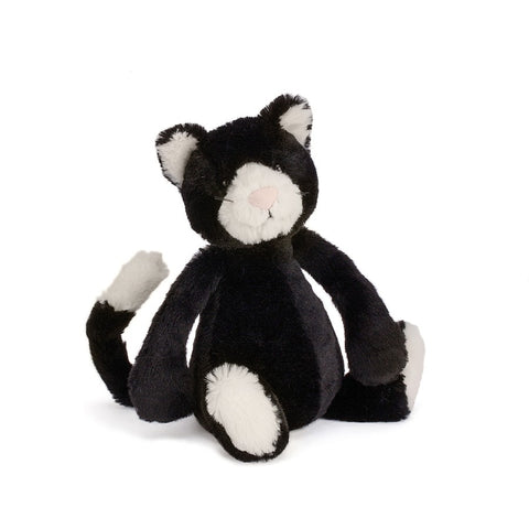 Jellycat Small Bashful Black And White Kitten
