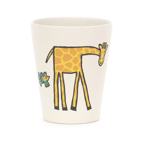 Jellycat Bamboo Cup Giraffe Elephant Jungle Animals
