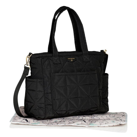 Twelve Little Carry Love Quilted Tote Black