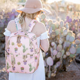 Twelve Little On The Go Backpack Cactus Print