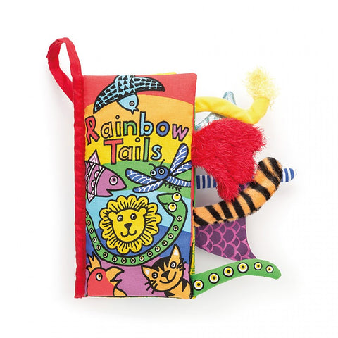 Jellycat Crinkle Book Rainbow Tails