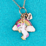 Charm It It's All Rainbows and Unicorns Necklace