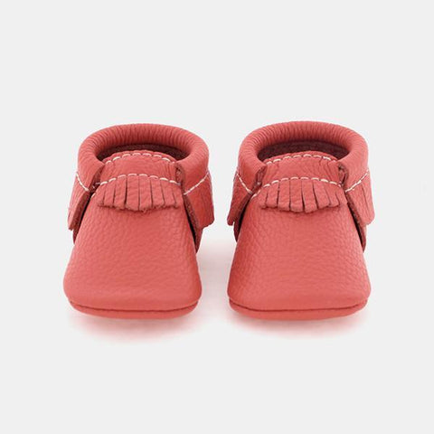 Freshly Picked Moccs Coral Leather