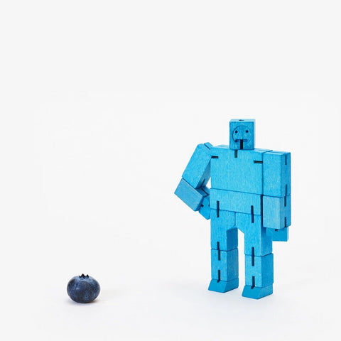 Cubebot Areaware Micro Small Blue 00291