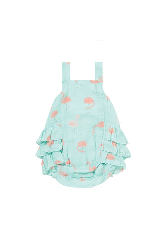 Angel Dear Flamingo Ruffle Sunsuit