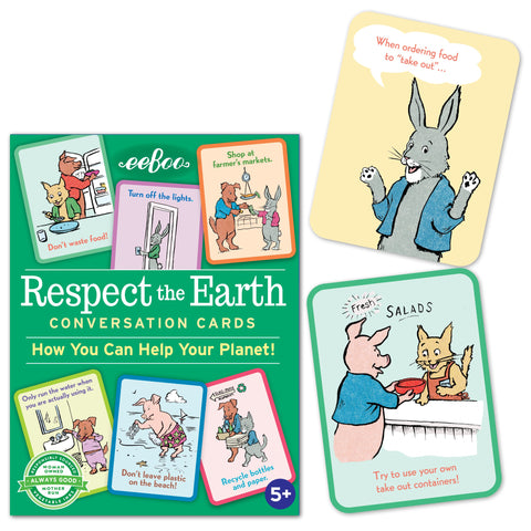 Eeboo Flash Cards Respect the Earth