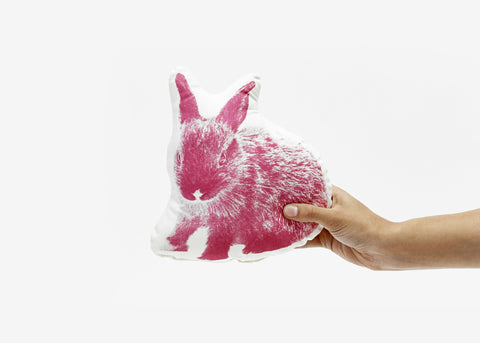Areaware Fauna Little Pink Bunny Pillow