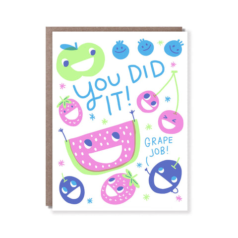 Hello Lucky Card - You Did It!  Grape Job!