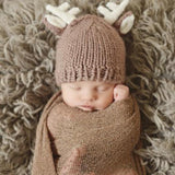 Blueberry Hill Hat Knitted Brown Deer