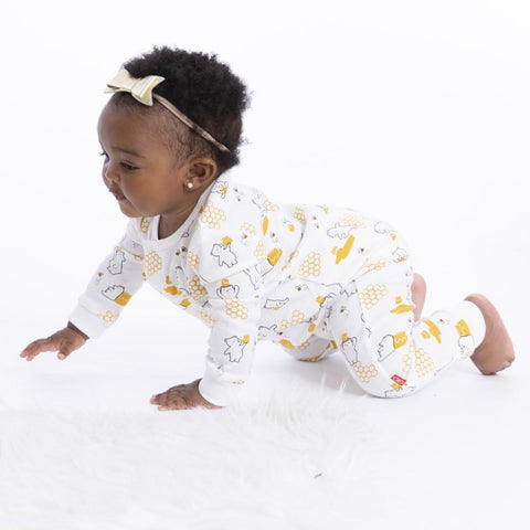 Magnetic Me Coveralls Honey Bee Mine Bears Organic Cotton