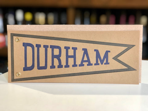 Big Wheel Press Durham Pendant Flag Card