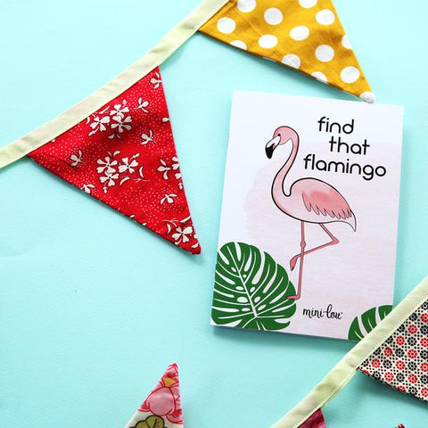 Mini Lou Small Coloring Book Find that Flamingo