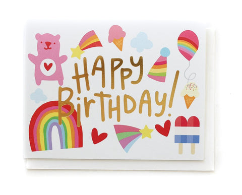 The Penny Paper Co Card - Happy Birthday Rainbows