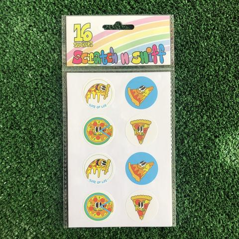 Beautiful Days Scratch n Sniff Pizza Set of 16 Stickers