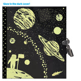 Eeboo Locking Diary Space Glow in the Dark