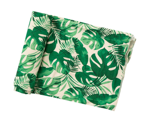 Angel Dear Monstera Leaf Swaddle Blanket