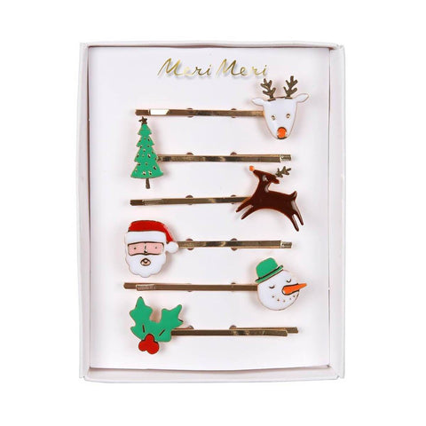 MeriMeri Enamel Hair Pin Set Christmas