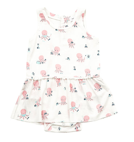 Angel Dear Octopus Playtime Bodysuit with Skirt Pink