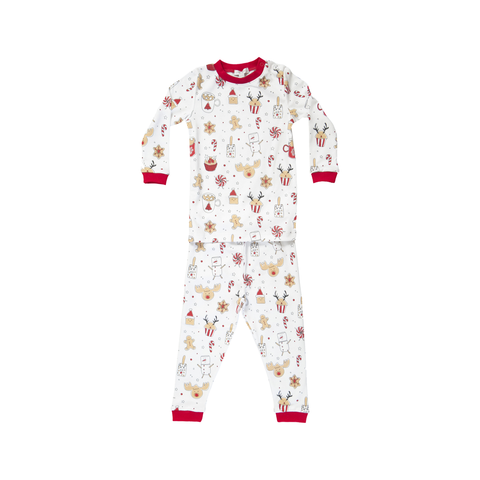 Noomie 2 Piece PJ Set Holiday Treats
