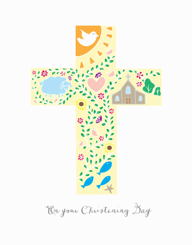 Paula And Waffle Card On Your Christening Day
