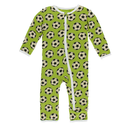 Kickee Pants Coveralls Meadow Soccer