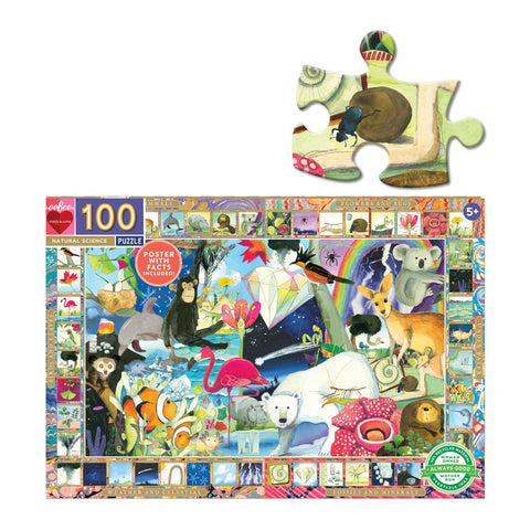 Eeboo Puzzle 100 Piece Natural Science