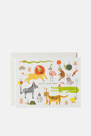 Rifle Paper Company Card - Happy Birthday Animals