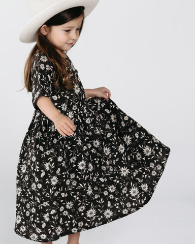 Rylee and Cru Dress Black Floral