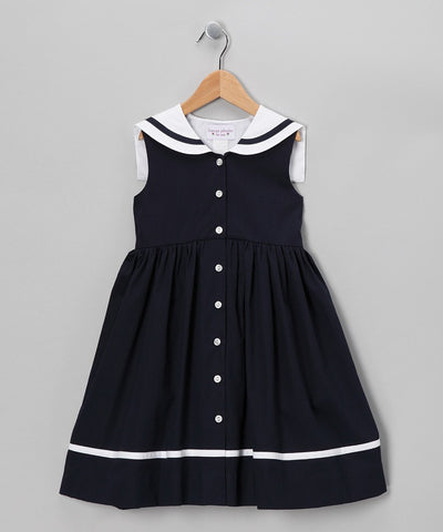 Simi Dress Navy Sailor Collar