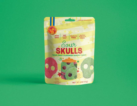 Candy People Sour Skulls Gummies
