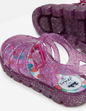 Joules Jelly Shoes Pink Glitter