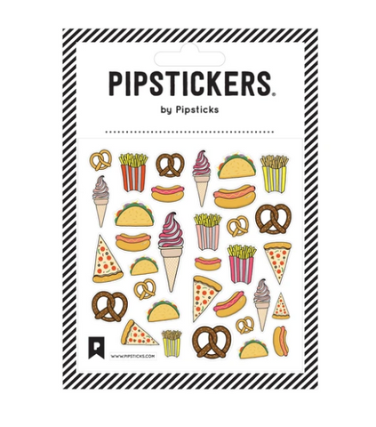 Pipsticks Sticker Sheet - Junk Food Fun