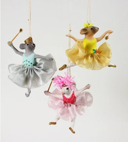 Cody Foster Christmas Ornament Mouse Ballerina Resin