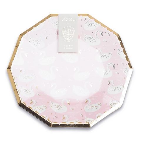 Daydream Society Hello Lucky Pink Swan Plate