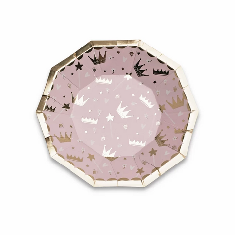 Daydream Society Hello Lucky Pink Crown Plates