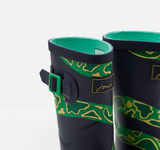 Joules Rain Boots Navy Snake