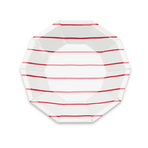 Daydream Society Stripe Small Plate Red
