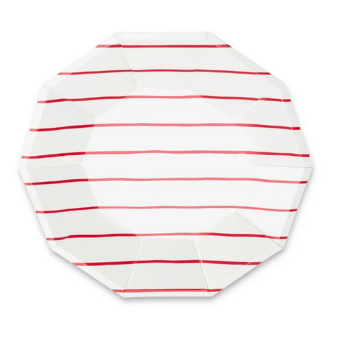 Daydream Society Stripe Large Plate Red