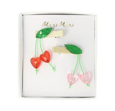 MeriMeri Hair Clips Cherries Hearts