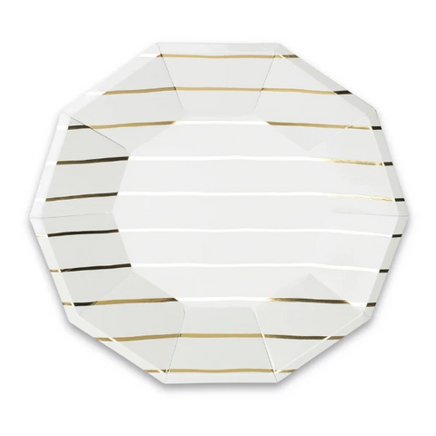 Daydream Society Stripe Large Plate Metallic Gold