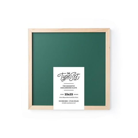 Type Set Magnetic Letter Board 15 x 15 Green