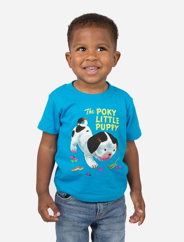 Out Of Print Tee Shirt The Poky Little Puppy Blue