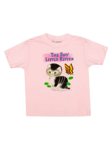 Out Of Print SS Tee The Shy Little Kitten Pink