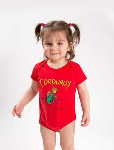 Out Of Print Onesie Corduroy Red