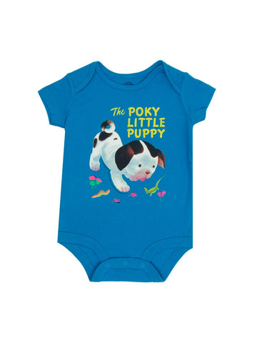 Out Of Print Onesie The Poky Little Puppy Blue