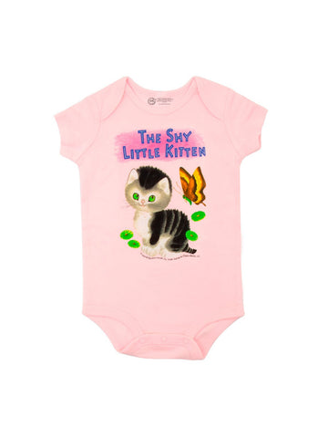 Out Of Print Onesie The Shy Little Kitten Pink