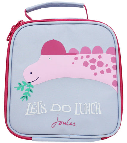 Joules Lunchbox Let's Do Lunch Pink Dinosaur