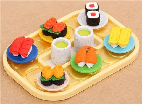 iwako Puzzle Eraser Set - Conveyor Belt Sushi