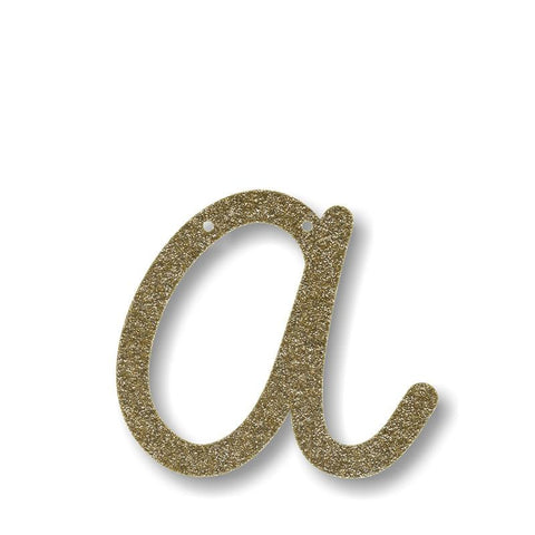 MeriMeri Gold Glitter Acrylic Letter or Number for Banners